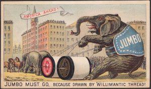 P.T. Barnum Circus Parade, New York City, NY, Jumbo the Elephant, circa 1880's.