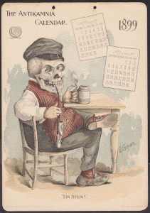 Antikanmia Skeleton Calendar Card from History Channel Pawn Stars