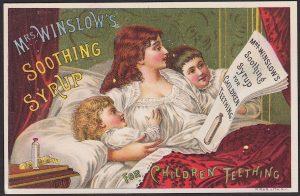 Mrs Winslow Soothing Syrup Teething Infants 1886 Calendar Advertising Trade Card
