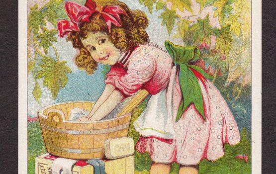 Maple City Soap Bar Washtub Soapbox Monmouth IL Victorian Advertising Trade Card