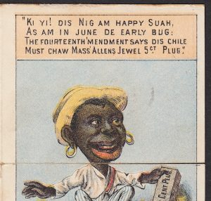 A Black slave freed by the Civil War makes light of citizenship and the Fourteenth Amendment of the Reconstruction period.