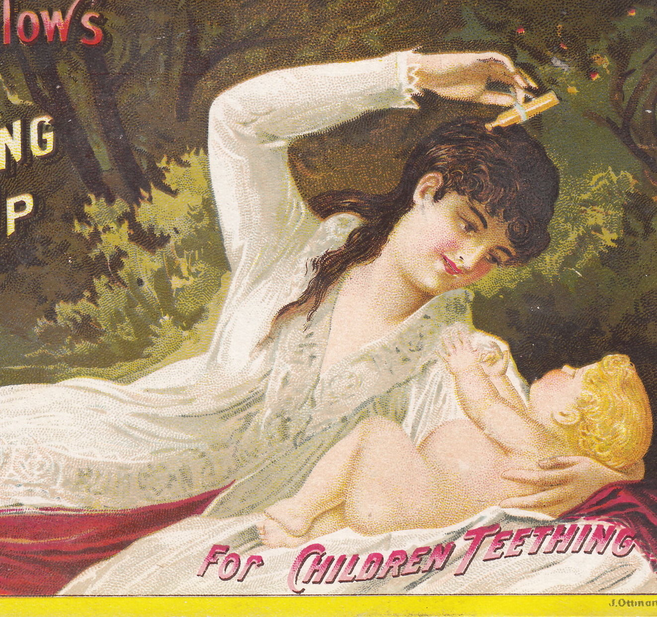 Mrs. Winslows Teething Syrup Advertising Trade Card Image