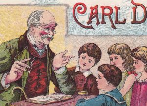 Carl Dunder Brown Cigar 19th Century Tobacco Card Detroit School Teacher Children