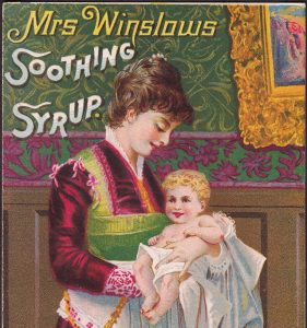 Mrs Winslows Soothing Syrup for Children Teething Baby Killer Advertising Card