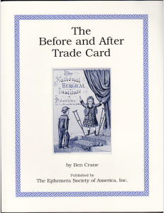 The Before and After Trade Card Book by Ben Crane