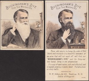 Buckingham Whisker Dye Before and After Metamorphic Victorian Advertising Trade Card