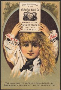 Twin Brothers Dry Hop Yeast ad card.